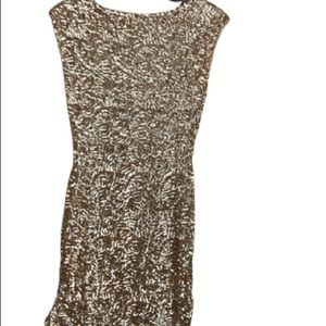 Alice+Olivia gold sequence tank dress  without tag